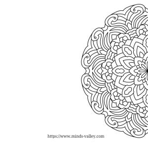 Therapeutic Mandala Coloring Page 1